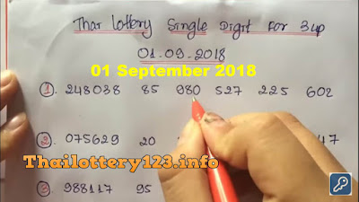 Thai lottery 3up single digit formula win number 01 September 2018