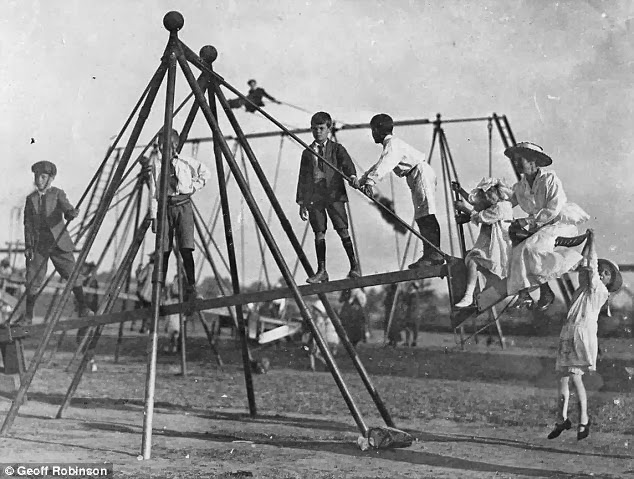 World S First Playground Swing Vintage Everyday