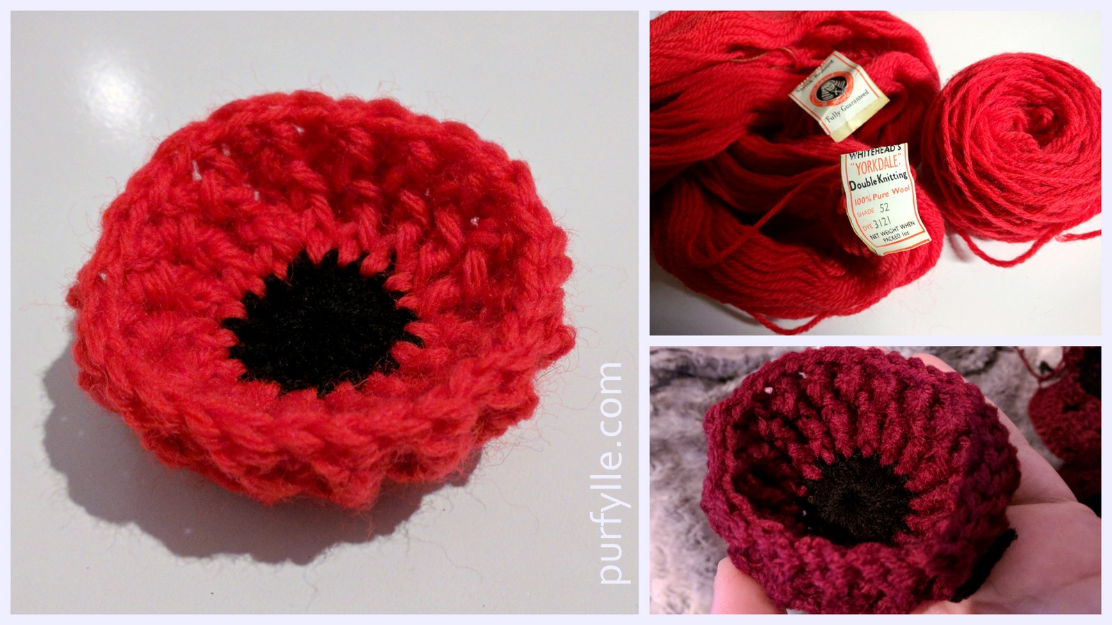 Purfylle: Proud Poppy Free Crochet Pattern
