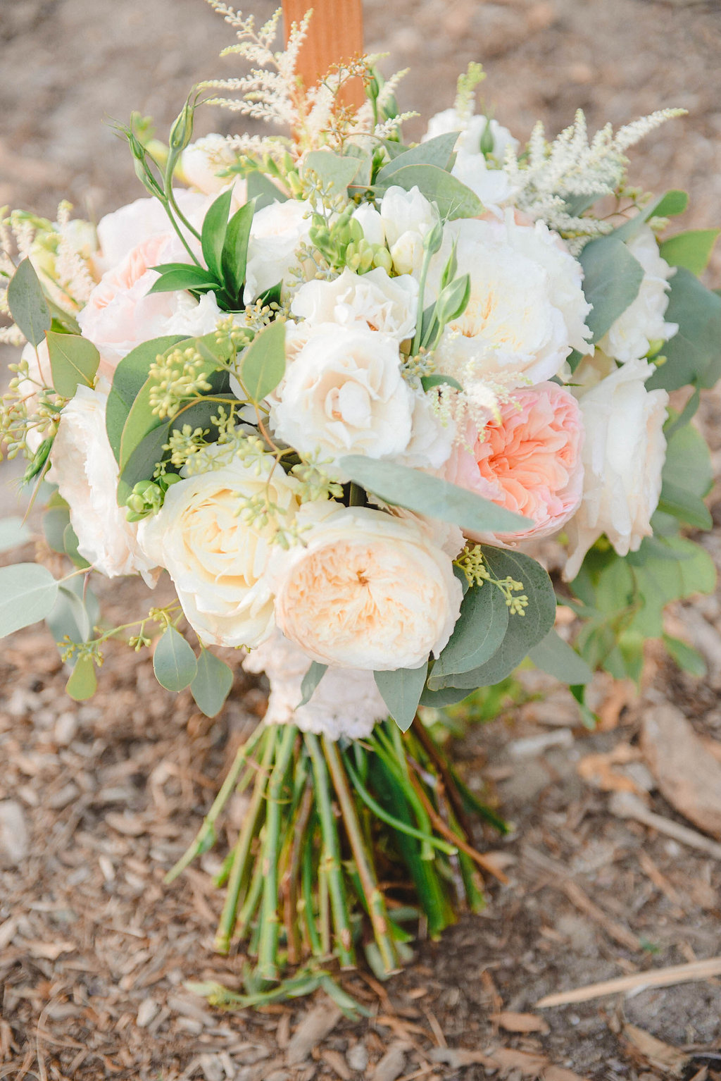 Florals By Jenny: Soft Peach And Cream Wedding At The