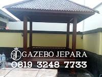 Gazebo Kayu Jati Minimalis