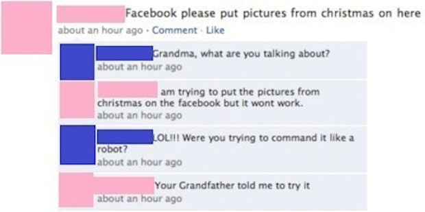 Facebook, please put pictures from Christmas on here - Dr