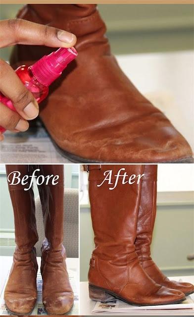 làm mới giày dép da cũ