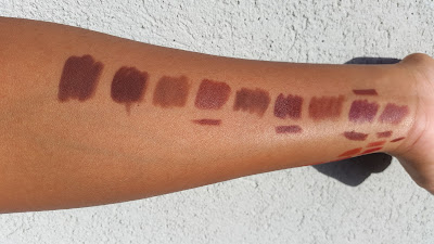 brown lip liner swatches - www.modenmakeup.com