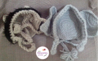 Touca para recém nascido de crochê
