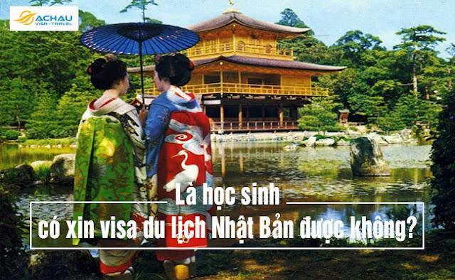 Là học sinh có xin visa du lịch Nhật Bản tự túc được không?