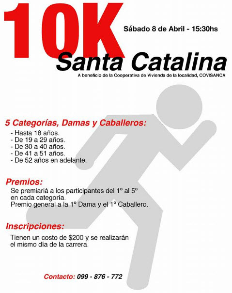 10K Santa Catalina (Soriano, 08/abr/2017)
