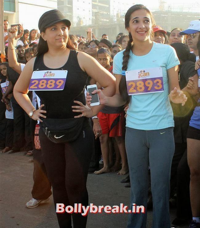 Tara Sharma, Tara Sharma, Abhishek at 'DNA I Can Women Half Marathon 2014'