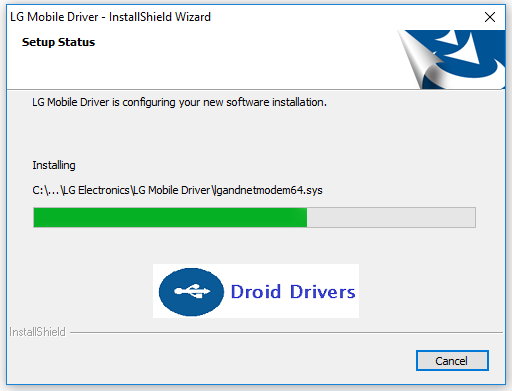 Windows will install the LG Mobile Driver
