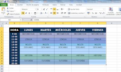 Resultado de imagen para tablas y formato de tablas y celdas