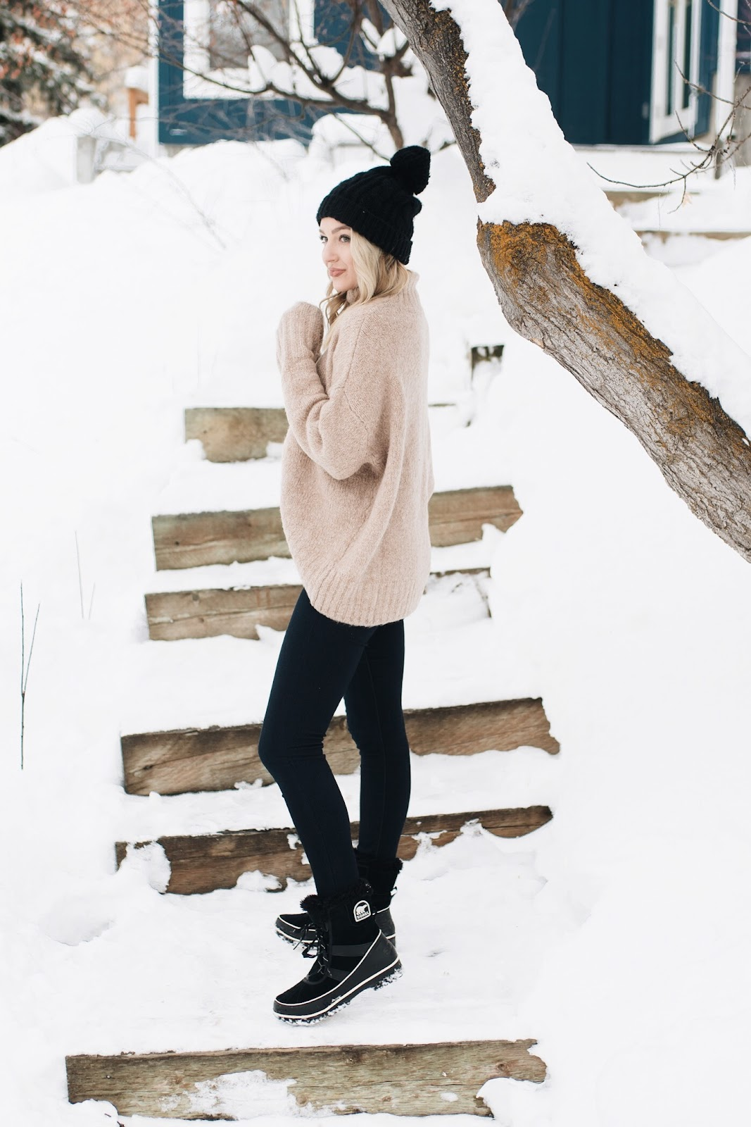 Outfit with Sorel snow boots