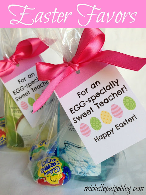 Easter favors for teachers, friends, neighbors @michellepaigeblogs.com