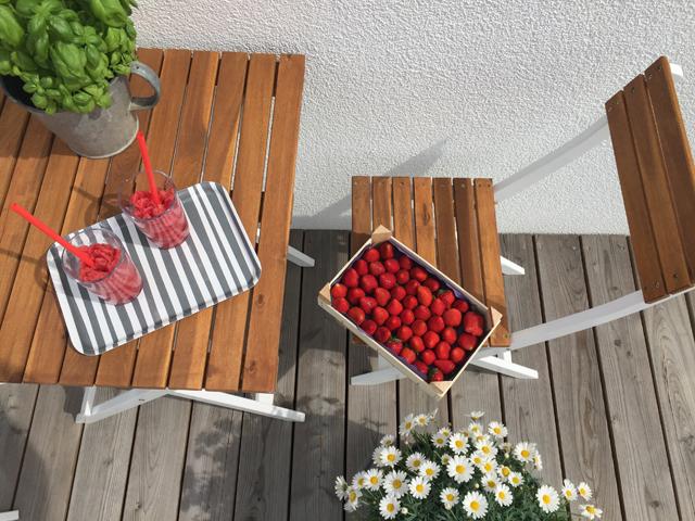 Sommer Erdbeeren Wassermelone