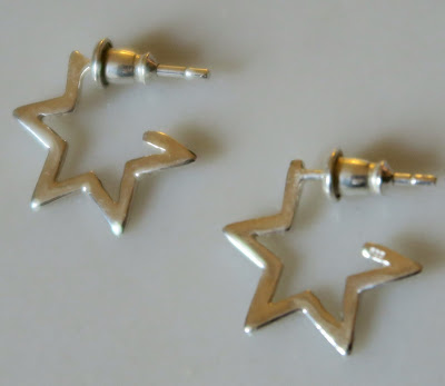 Tada and Toy Star Hoop Earring in Silver