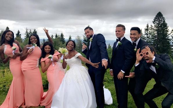 Busayo-Makinwa-Stian-Fossengen-white-wedding-Oslo-Norway
