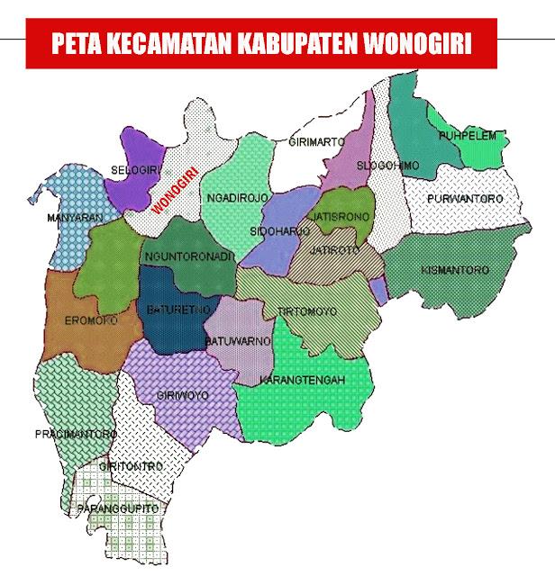 Gambar Peta Kecamatan Kabupaten Wonogiri
