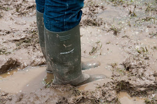 Sinking in the mud at a festival
