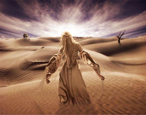Surreal Desert Scene in Photoshop