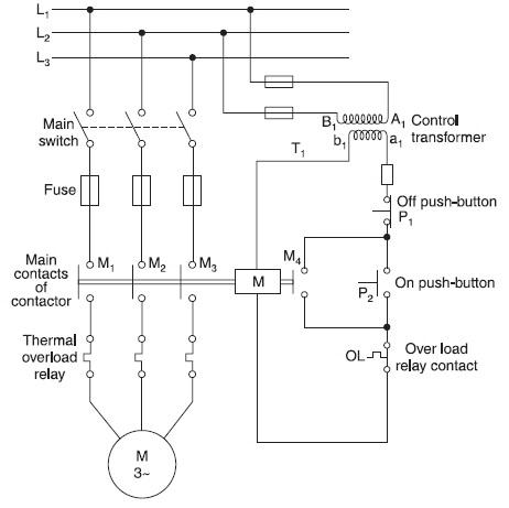 magnetic motor starter wiring diagram. Black Bedroom Furniture Sets. Home Design Ideas