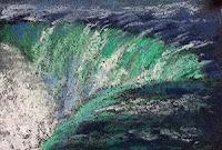 Thumbnail sketch of Niagara fall using soft pastels by Manju Panchal