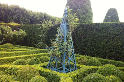 French formal garden style boxwood and hedges