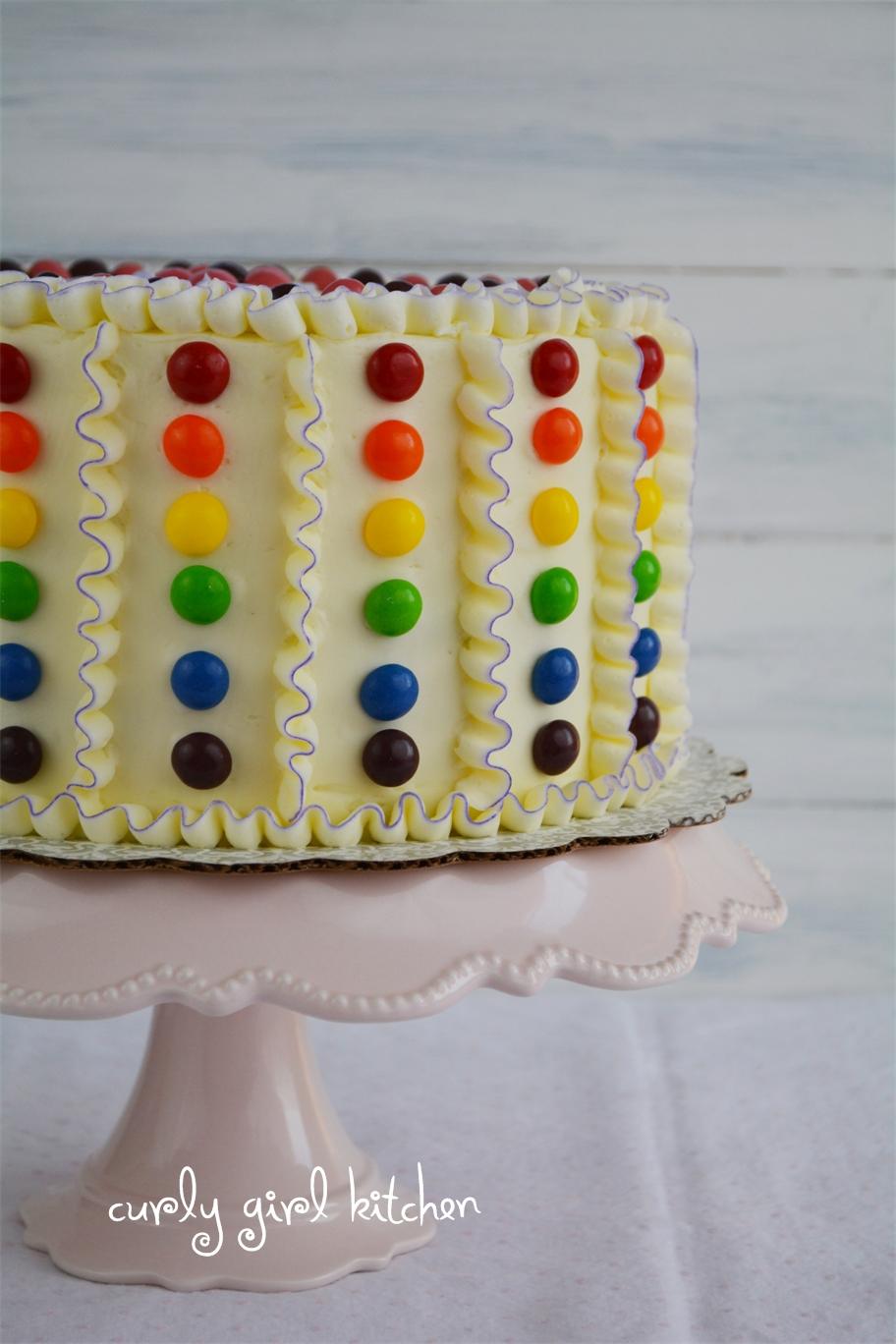 Curly Girl Kitchen Orange Rainbow Ruffle Cake With