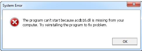 Télécharger Acdb16.dll Fichier Gratuit Installer