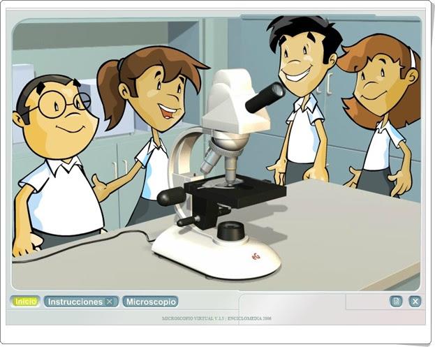 """""""El microscopio"""" (Ciencias Naturales de Primaria). Encicloabierta.org."""