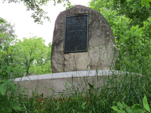 historical monument to Ottawa Chief Cob-moo-sa