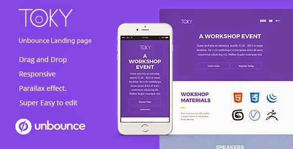 Toky Workshop Event landing Page For Unbounce