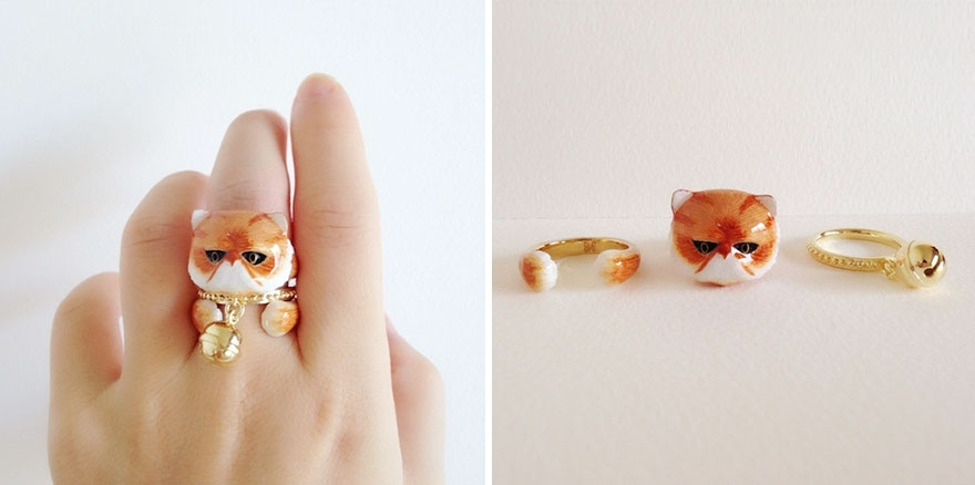 08-Persian-Cat-Mary-Lou-Three-Piece-Animal-Jewellery-Rings-www-designstack-co