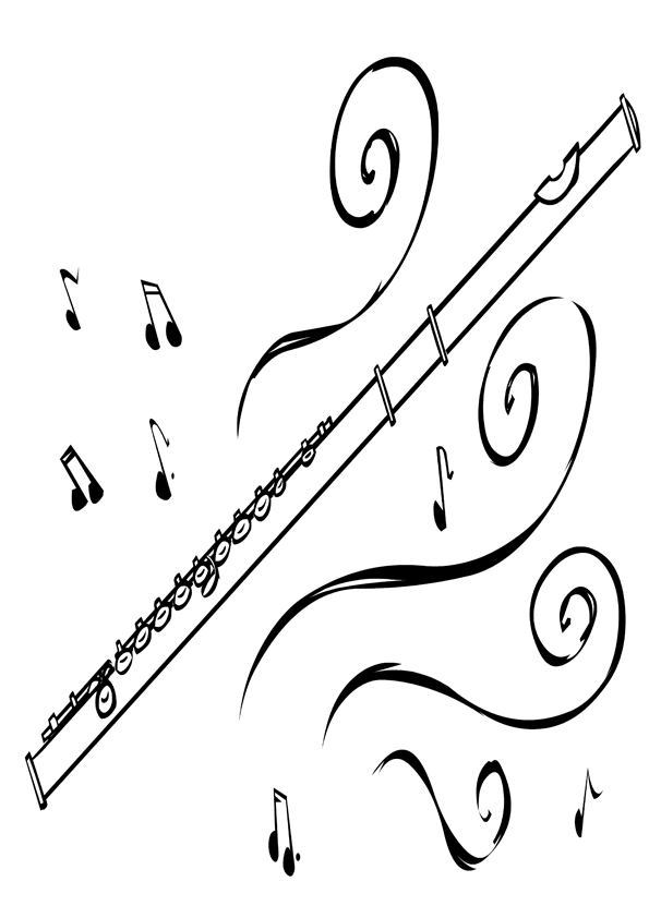 flute coloring pages - photo #30