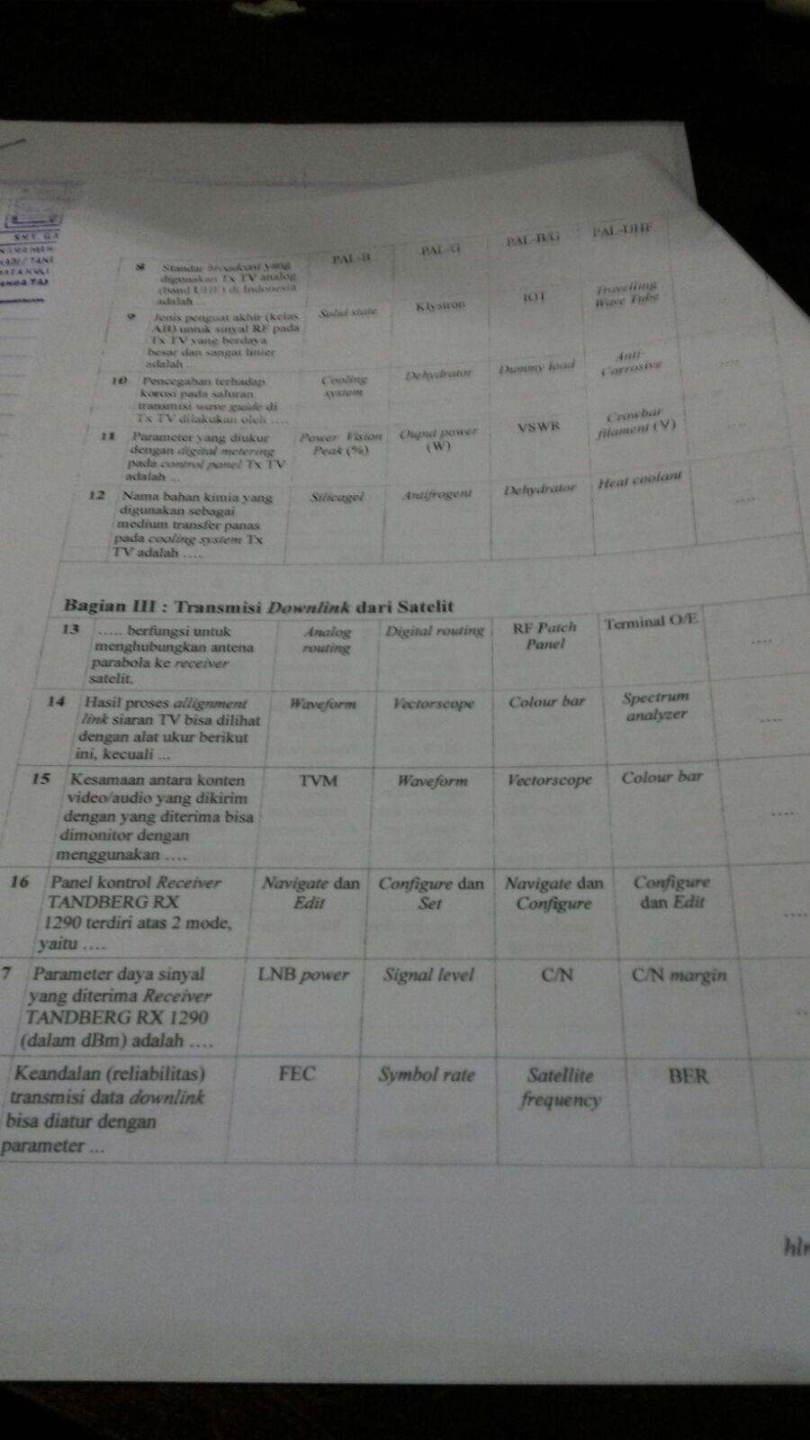 Soal Uas Semester 5 Sistem Televisi Dokumen 471
