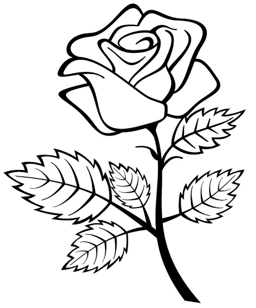 Printable Roses Coloring Pages