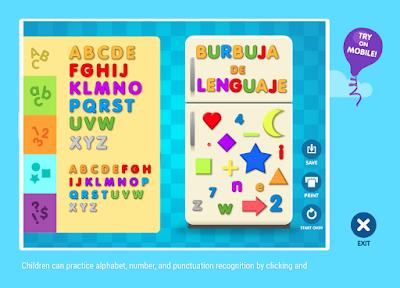 Burbuja De Lenguaje Juegos Interactivos Abcya