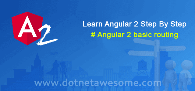 Basic Routing in Angular 2