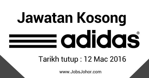 Jawatan Kosong ADIDAS (Malaysia) Johor 2016