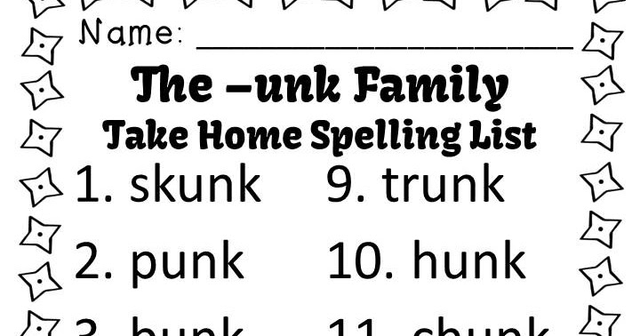 Classroom Freebies: Fern Smith's FREE Spelling Words and