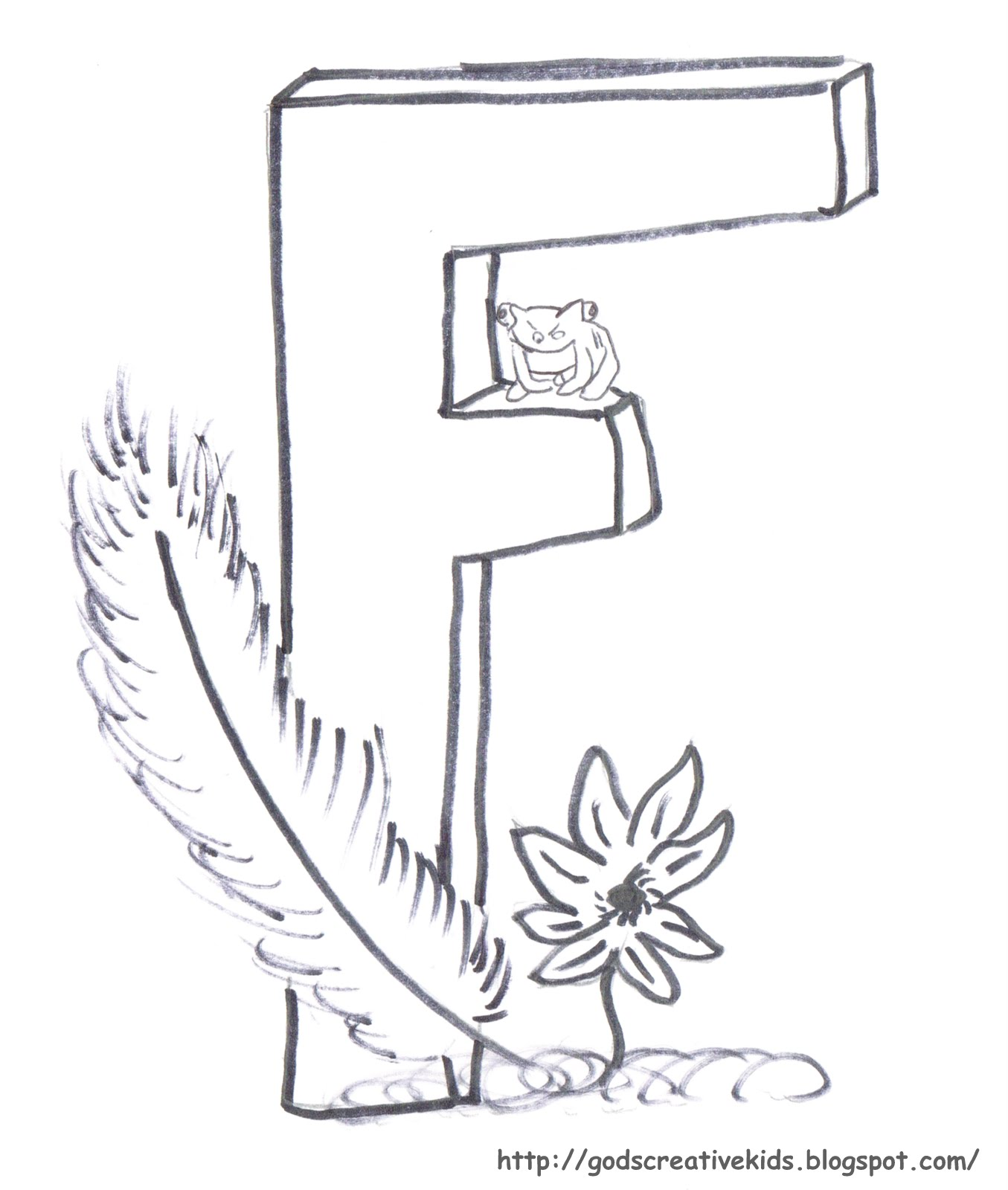 Ray-Chill's World: Letter F ~ Coloring Page ~ By Rachel