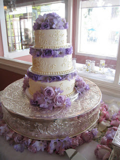 Stunning Patterned Lavender Wedding Cakes