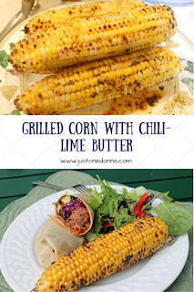 Grilled corn with chili-lime butter.
