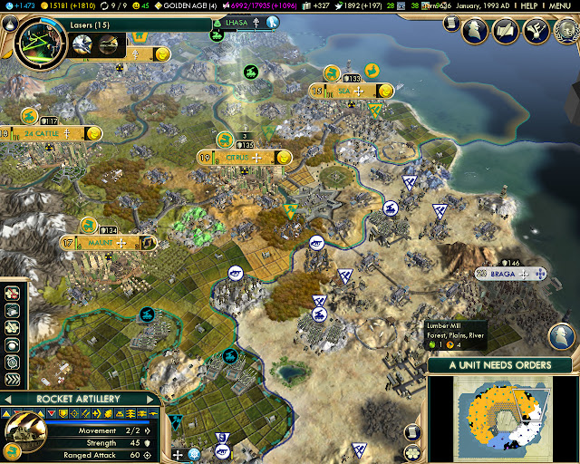 Donut Map | Civilization 5 Screenshot