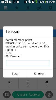 aktivasi paket internet tri 4G nonstop