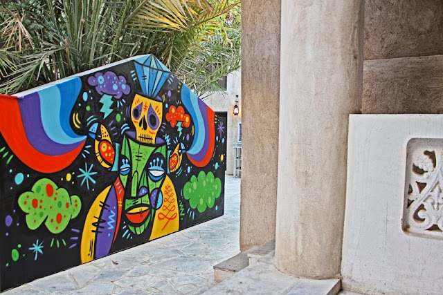 Street Art By Ruben Sanchez In the Al Bastakiya district of Dubai, United Arab Emirates.  5