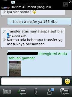transfer pembelian padedas 1