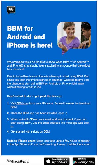 FREE! Downloads BBM untuk Android dan iPhone Tersedia Kembali (Baru!)