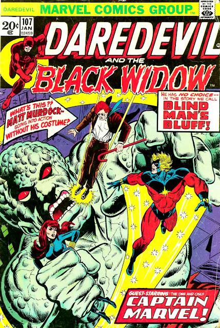 Daredevil v1 #107 marvel comic book cover art by Jim Starlin