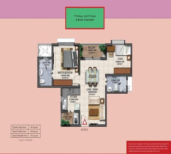 Provident Adora De Floor Plan