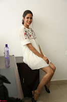 Lavanya Tripathi in Summer Style Spicy Short White Dress at her Interview  Exclusive 149.JPG