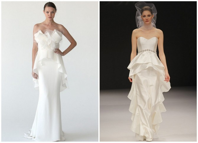 Bridal Fashion Show : Pretty Peplums --Wedding Dresses
